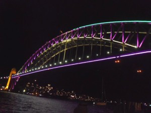 designing the lights on the Harbour Bridge